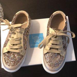 Elephantito girls glitter sneakers